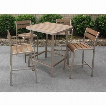 Fashionable Polywood Bar Table, Suitable for Indoor and Outdoor Use from China