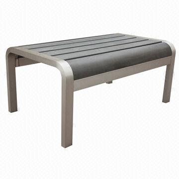 Coffee and Tea Table, Aluminum Frame with Plywood Slats from China