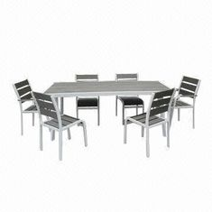 Long dining table set, done with powder coating from China