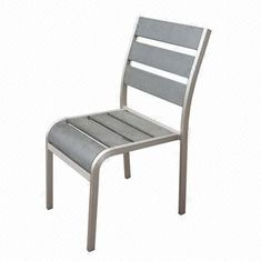 Aluminum outdoor dining chair with polywood, ideal for indoor and outdoor use from China