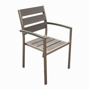 Outdoor Furniture/Aluminum Dining Chair with Plywood Slats, Ideal for Outdoor and Garden from China