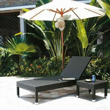 Outdoor patio furniture, made of aluminum and PE rattan from China