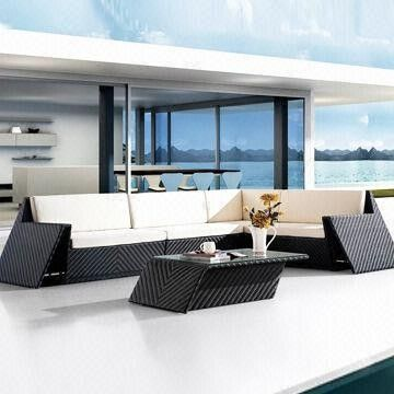Outdoor Sofa Set with Waterproof Fabric and Foam from China