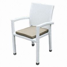 Rattan dining chair/UV-resistant outdoor/garden/restaurant/hotel furniture, aluminum tube from China