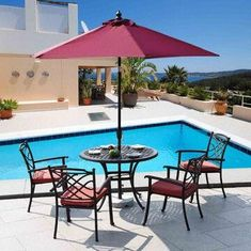 Cast aluminum garden set/outdoor leisure furniture, 2-year warranty from China