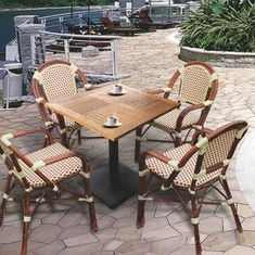 Bistro leisure furniture sets, outdoor garden chair with rattan, aluminum frame, UV-resist from China