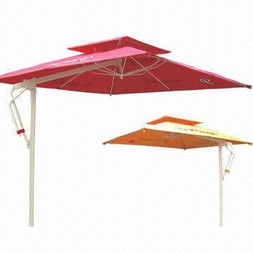 Patio parasol with aluminum tube, UV resistance, garden, hotel, outdoor, beach use from China