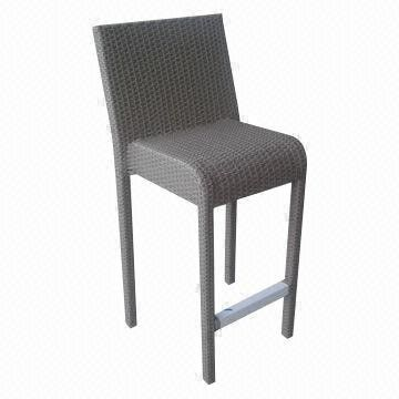 Outdoor Furniture/Rattan Bar Chair with Stainless Steel Footrest from China