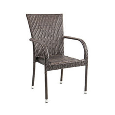 H92cm W58cm Rattan Garden Dining Chairs , Rattan Stacking Chairs For Villa