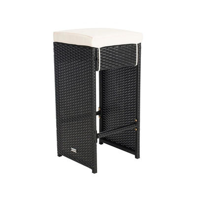 Stackable Height 700mm Depth 400mm Modern Wicker Bar Stools Durable