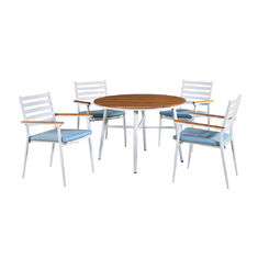 L56cm W61cm Chair Bistro Table And Chairs Set , Wicker Bistro Set