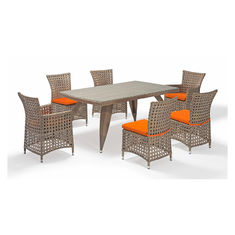 Rust Proof Chair 7 Piece Rattan Table And Chairs SGS Certificate