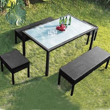 . Garden outdoor plastic rattan patio furniture